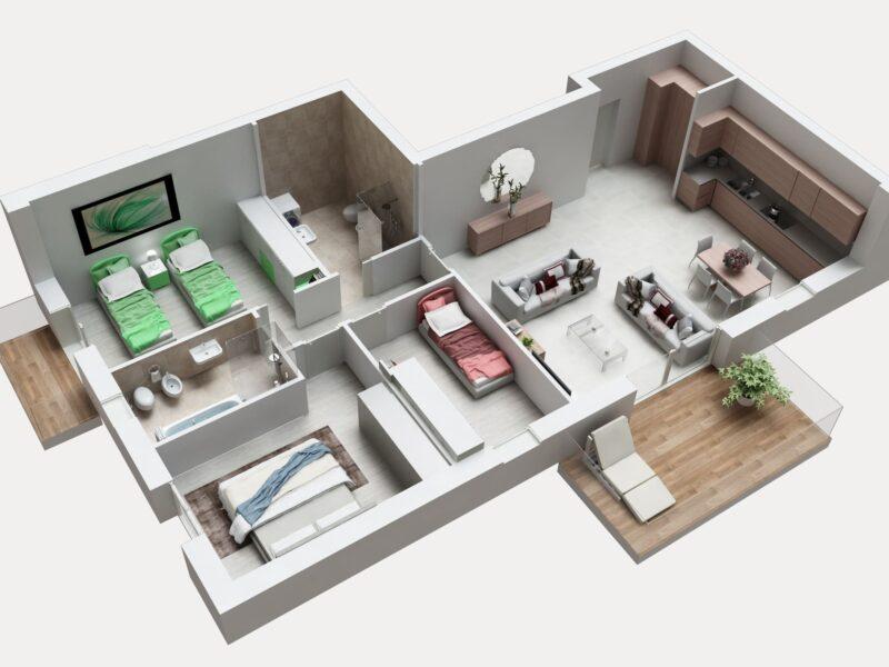 QUADRILOCALE 3 nuovo classe a seriate residenza corte fiorita (1)